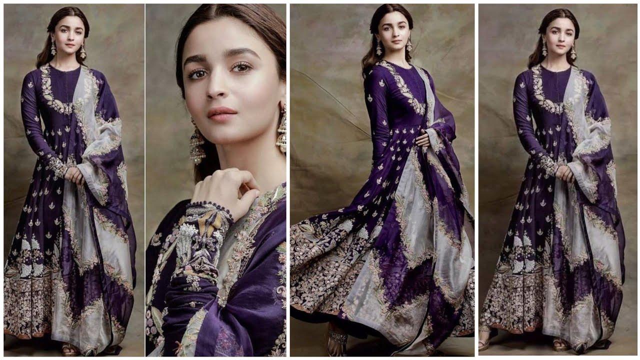 Purple Colours Combination Idea's Suits Kurti Dress!!Top 50 Purple contrast Party Wear Dress