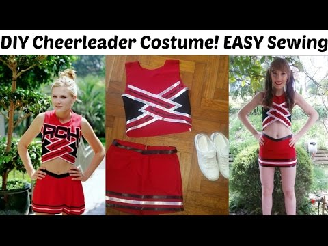 Diy bring it on cheerleading outfit halloween costume easy sewing diy bring it on cheerleading outfit halloween costume easy sewing youtube solutioingenieria Images