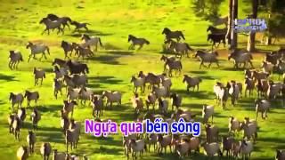 Karaoke HD Ngua O Thuong Nho Remix Beat