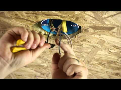 How to Move a Ceiling Light to Another Location : Ceiling Fans & Light Fixtures