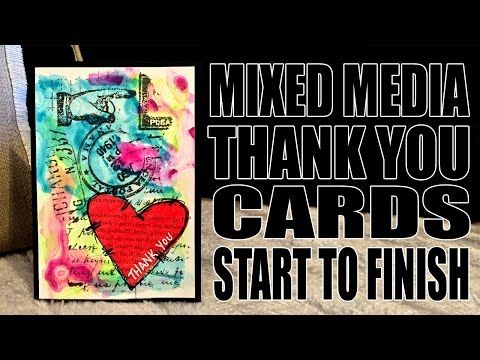 How to: Mixed Media Thank You Cards