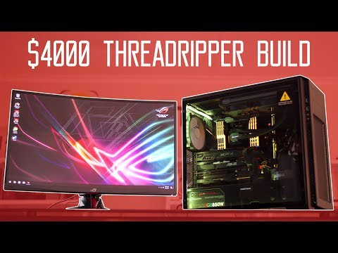 INSANE $4000 ALL AMD THREADRIPPER GAMING BUILD - Rippin Red Timelapse