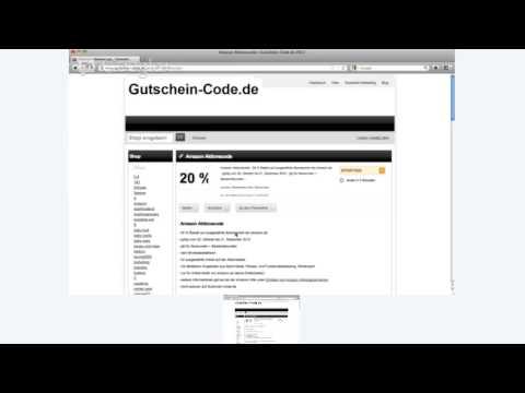 Amazon Aktionscode auf Gutschein-Code.de - YouTube