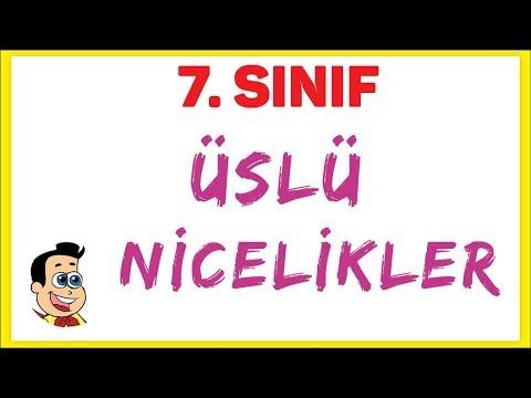 7. Sınıf üslü Nicelikler Şenol Hoca Matematik