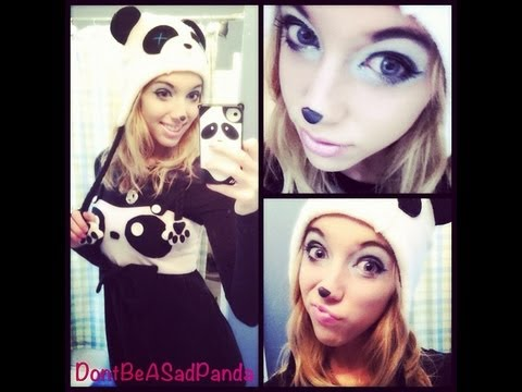 Glam Panda Makeup Tutorial Youtube