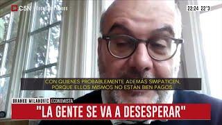 Entrevista al economista Branko Milanovic en Brotes Verdes (parte 1)
