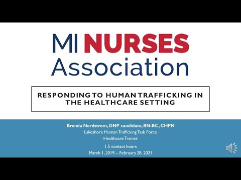 Responding to Human Trafficking in the Healthcare Setting - Michigan