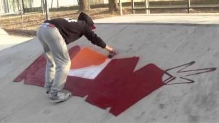 GRAFFITI NAME en Montilla Skatepark - OKT