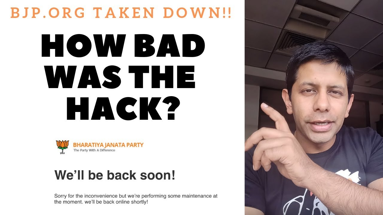 How BAD is the hack on BJPs official website?
