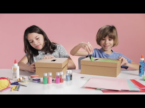 Kids Decorate Mailboxes For Valentine's Day In 15 Minutes Or Less // Presented by BuzzFeed & GEICO