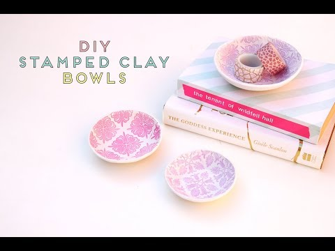LEARN HOW TO MAKE STAMPED AIR DRY CLAY BOWLS