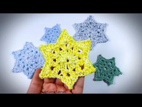 Einfache Sterne Häkeln Dekoration Weihanchten Fenster видео