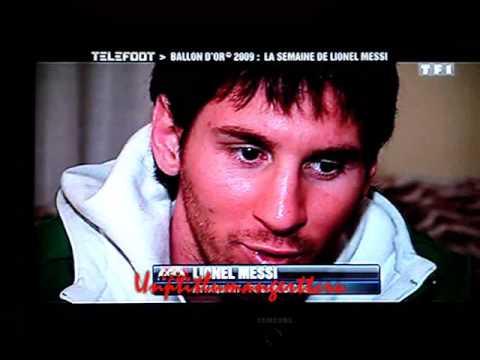Lionel Messi Ballon d'or 2009 / Gold Ball 2009 / Balón de Oro 2009!
