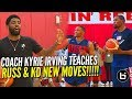 Kyrie Irving Teaches Russell Westbrook and Kevin Durant New Moves at USA Basketball!