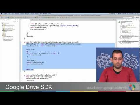 Google Drive SDK: Integrating Your App With The Android Drive App