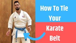 How To Tie Your Karate Belt