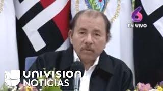 Habla el presidente de Nicaragua, Daniel Ortega.