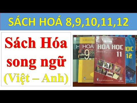 [Giới thiệu sách] HƯỚNG DẪN MUA SÁCH SONG NGỮ VIỆT ANH HÓA 8 - HÓA 9 - HÓA 10 - HÓA 11 - HÓA 12