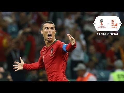 Rusia 2018: El hat trick de Cristiano Ronaldo en el Portugal vs España