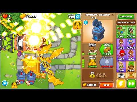 Bloons Tower Defense 6 True Sun God Showcase Round 130-150