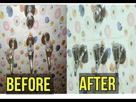 #Bathroom cleaning tips : clean rust on taps with soda and detergent | Hindi |