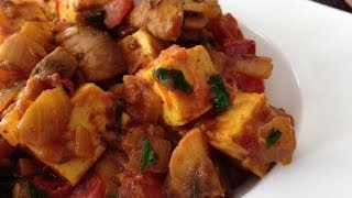 Spicy Mushroom Paneer Masala Recipe (Healthy, Quick Vegetarian Dish)