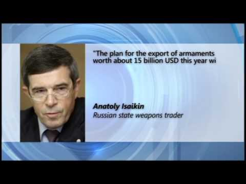 Russia to Sell Weapons Worth $15 Billion: Russia's weapons sales come despite Western sanctions