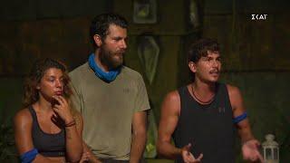 Survivor 2021   Συμβούλιο Ψηφοφορίας - Προτεινόμενοι για αποχώρηση Νίκος, Παύλος και James