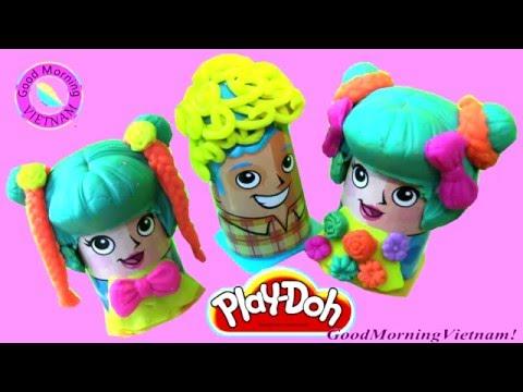 Play - Doh Cắt & Tạo Kiểu Tóc ❤ Susu Mimi Phong Cách Dạ Tiệc Đi Biển ❤ Play- doh Crazy Cuts Hairs
