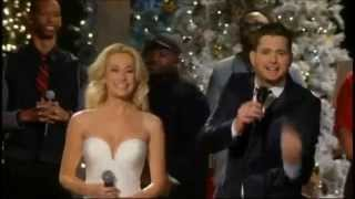 Michael Buble & Kellie Pickler   White Christmas   with Lyrics