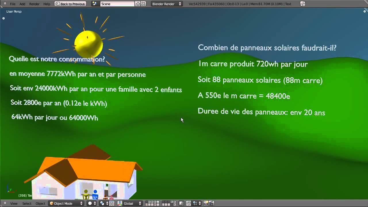 Combien de panneau solaire pour une maison panneau solaire en canettes panneaux combien a cote - Combien de pelote pour une echarpe ...