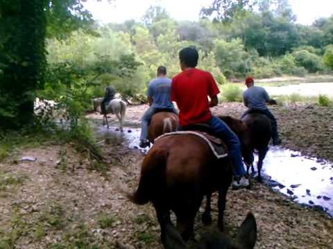 Mattes family horseback riding in Arkansas