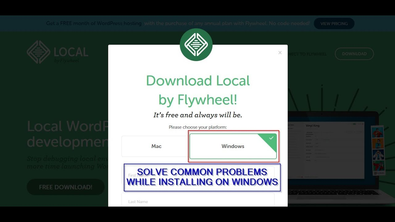 Solved - common problems encountered when installing Local by Flywheel on  Windows PC