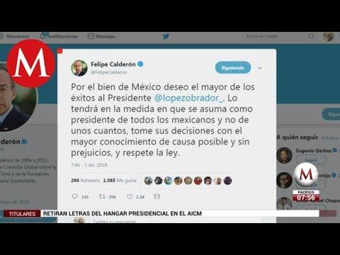 Felipe Calderón desea éxito a AMLO