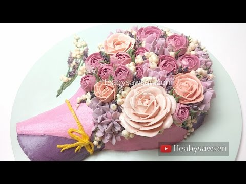 3d-buttercream-rose-bouquet-cake-tutorial---mother's-day---relaxing-cake-decorating