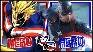HERO COMPARISON: Hero Academia VS Marvel Avengers (YHAD #8)