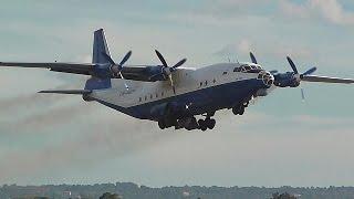 RARE Rubystar Antonov AN-12 EW-483TI departing Palma De Mallorca Airport