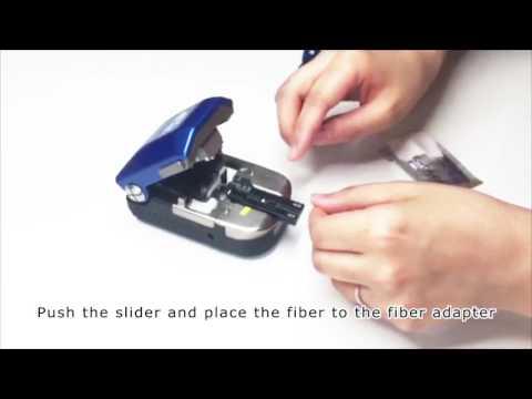 Operating procedure of FC-8R series optical fiber cleaver