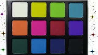 morphe picasso palette    swatch video