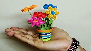 quilling flowers | miniature 3D flower pot