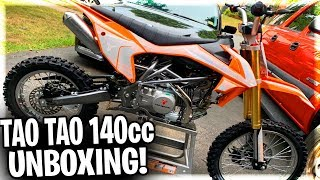 UNBOXING My New Tao Tao DBX1 140cc Dirt Bike/Pit Bike! | How To Put Together Tao Tao 140cc Pit Bike