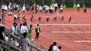 屯門區中學學界田徑比賽 2014 2015【男乙 100M欄