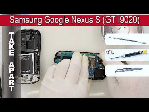 How to disassemble 📱 Samsung Google Nexus S GT I9020 Take apart, Tutorial