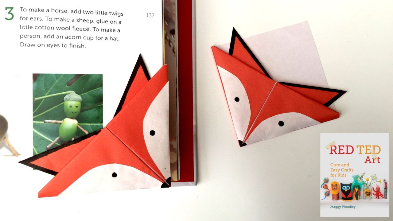 Fox crafts easy origami bookmark youtube How to make a simple bookmark