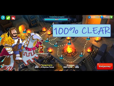 100% Clear On The 1st Run - Hustle Castle New Hero & Dungeon Update