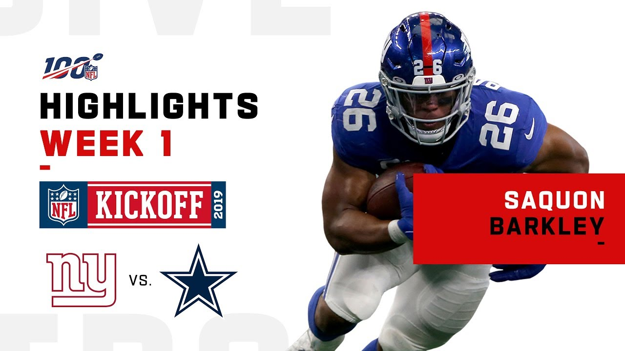 lowest price 19d70 5a546 Saquon Barkley Highlights vs. Cowboys | NFL 2019