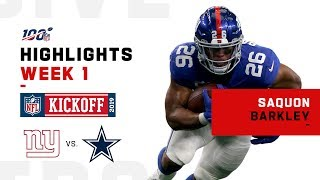 Saquon Barkley Highlights vs. Cowboys | NFL 2019 thumbnail