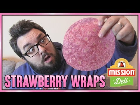 Mission Deli Strawberry Tortilla Wraps Review