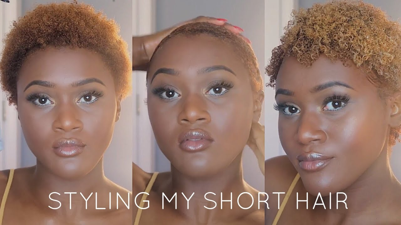 I Went Blonde Styling My Twa Short Natural Hair Routine