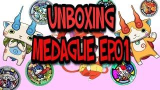 yo kai watch unbox orologio e medaglie serie 1 episodio 1